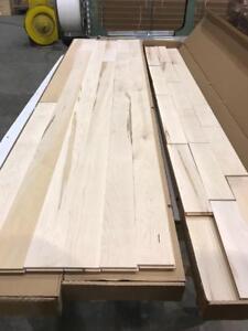 Plancher de bois franc érable brut 2,99$/pc