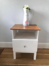 Decorative pine bedside cabinet