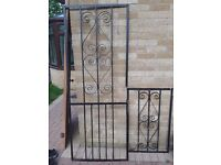 Wrought iron security gate and window cover