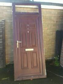 Woodgrain effect pvc front door and frame