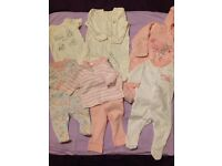 Baby Girl Clothes Bundle Tiny Baby