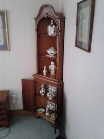 Rosewood Corner Display Cabinet