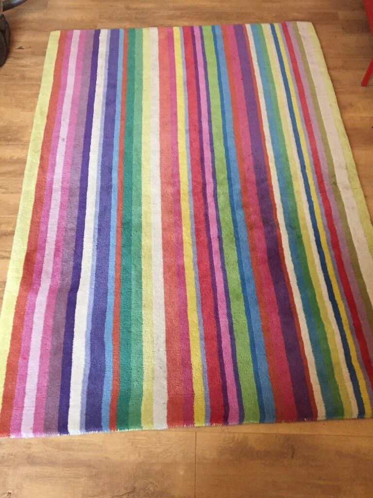 Ikea Multi Coloured Striped Rug