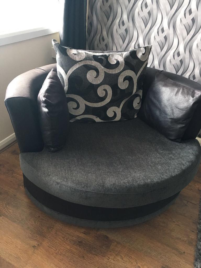 Grey 3 seater sofa and swivel chair in excellent condition!!