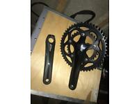 Shimano 105 compact chainset. New left hand arm.
