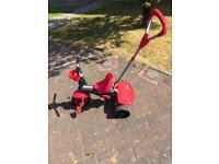 Pedal or push toddler trike