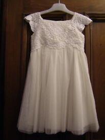 Flower Girl Dress - Monsoon, 3 yrs, Vintage Style, Ivory