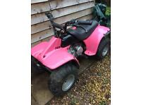 Pink Petrol Powered Kids Quad Bike - Electric Start- Non Runner