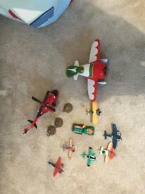 Selection of planes toys
