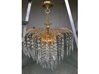 God plated crystal chandeliers