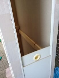 Single bed base with storage space