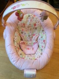 Brightstarts pink vibrating chair with music