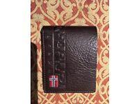 NAPAPIJRI 100% Brown Leather Mens Wallet