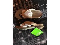 Capri V Flip Crocs, Size 3, Brand New.