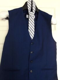 Gorgeous luxury modern blue Taylor & Wright waistcoat & trousers suit