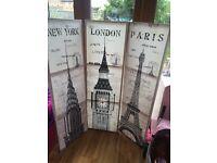 London Paris New york canvas'