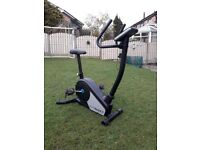 EXERCISE BIKE - ROGER BLACK GOLD MAGNETIC FITNESS BIKE WITH LCD DISPLAY