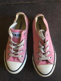 Converse pink girls size UK12