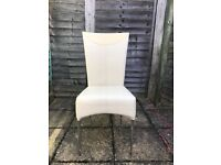 High back faux leather chairs