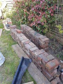 200 reclaimed red bricks plus half bricks and approx 50 yellow bricks