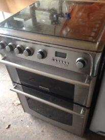 Cannon Silver Gas cooker 60cm. Mint
