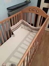 Pine cot, excellent condition