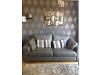 Next sonama leather sofa