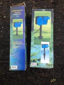 Garden electrical double sockets