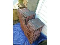 Plain Roof tiles - Natural Red