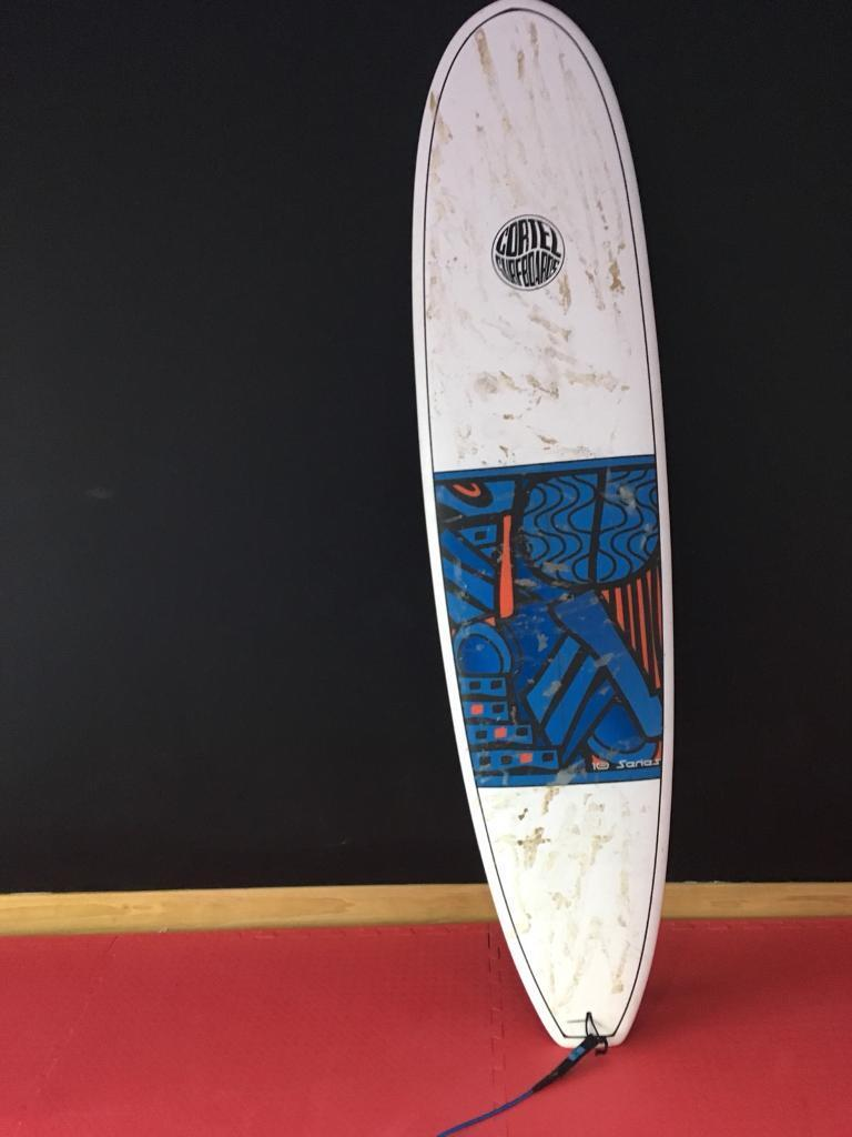 Cortez series 10 surfboard used once and one circle ten skimboard good condition