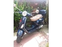 Vespa 125, good condition, starts first time, just a small dent and a few scratches here and there.