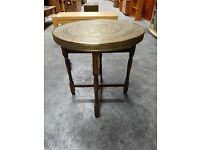 Ornate Brass Middle Eastern design fold down table