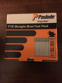 PASLODE F16 STRAIGHT BRADSWITH 2FUEL CELLS