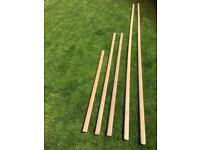 Lengths of hardwood for boat or home project