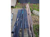 Multiple Fishing Rods & Bag For Sale