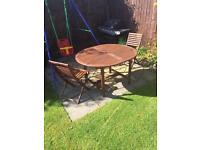 Hardwood Garden Table & Chairs