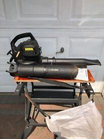 Petrol Leaf blower and leaf collector