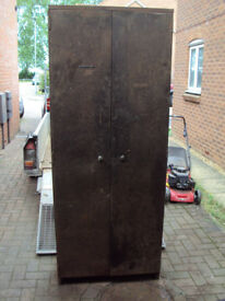 Vintage Industrial Shelved Large Metal Cabinet - workshop, home or garage storage