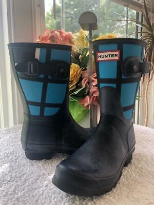 Hunter Original Waterproof Short Tartan Boot SIZE EU36 US 5 UK 3 (bota600 - Plaid Hunter Boots