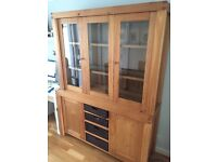 Dining Room Table + 6 Chairs and Matching Display/Storage Cabinet