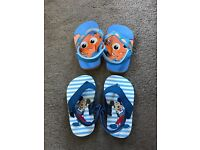 2 pairs of new baby sandals