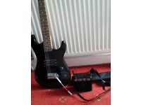 Electric guitar , with amp