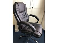 Real Leather Chair New Condition For Sale