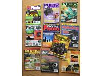 Camera photography magazines job lot collection