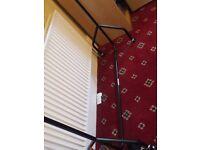 Sturdy double clothes rail 3ft