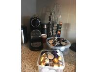 Magimix Nespresso machine - with milk frother and pods