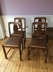 4 Solid wood dining chairs - Delivery available