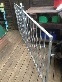 Galvanised steel gates driveway garden