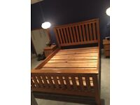 Solid Oak King (5ft) double bedframe - very good condition