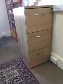 Large lockable filing cabinet - v.good condition